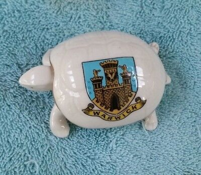 Queen's Crested China Turtle Warwick Crest  Figurine 456065 SPM Co.