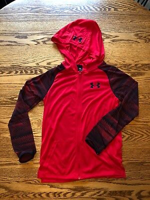Under Armour Threadborne Jacket Boys Girls Kids Youth Red