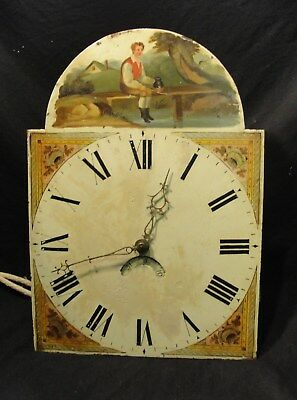 VICTORIAN 30 HOUR LONGCASE CLOCK MECHANISM with its DIAL & HANDS in nice cndt