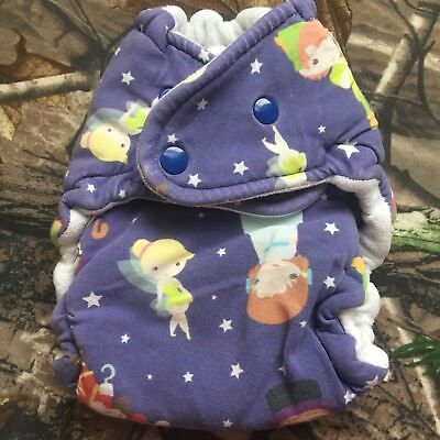 Cloth Diaper, One Size, Hybrid Fitted, Peter Pan