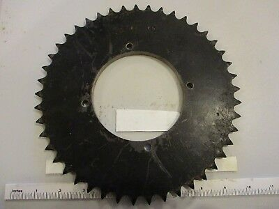 "50A45 sprocket. 4-1/8"" pilot hole with (4) 0.285"" bolt holes on 3.35"" centers"