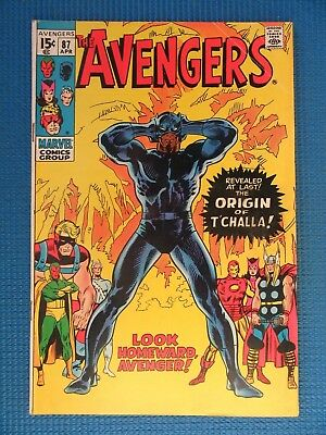 Avengers # 87 - (Fn/vf) - Origin Of The Black Panther - T'challa