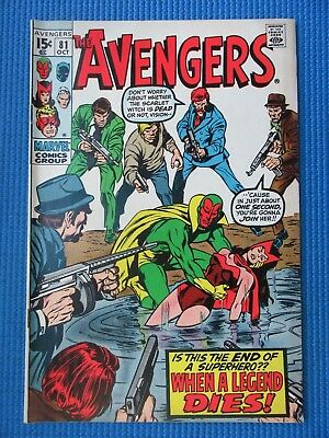 Avengers # 81 - (Vf/nm) - Red Wolf - Vision, Scarlet Witch, Black Panther
