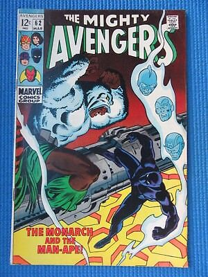 Avengers # 62 - (Vf+) - 1St App Of The Man-Ape - Black Knight, Black Panther