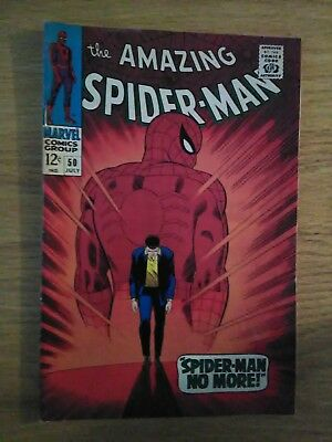 The Amazing Spider-Man Silver Age Comic Book #50 (Jul 1967, Marvel)