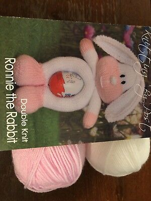 Knitted toy kit - Rabbit Easter egg holder