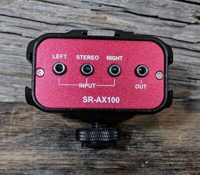 Saramonic SR-AX100 2 Channel 3.5mm Audio Adapter Red/Black Dual Trim Control