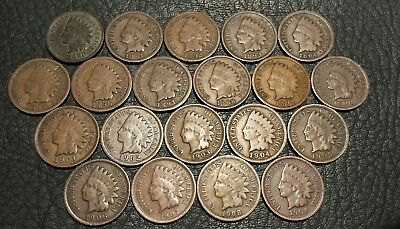 Rare Very Old Antique American US Coin Collection Money 20 pc Lot 1890 to1909