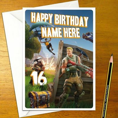 FORTNITE Personalised Birthday Card - A5 online mmo battle royale hunger unreal