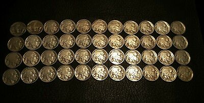 Rare Very Old Antique American US Coin Collection Money 44 pc Lot 1913 to 1938 d