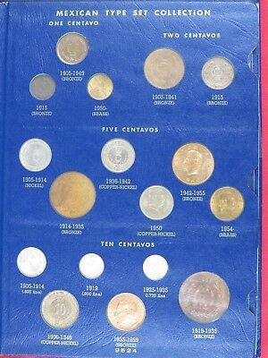 MEXICO TYPE SET (COMPLETE) 1905-NOW BEAUTIFUL CONDITION. about95% UNC