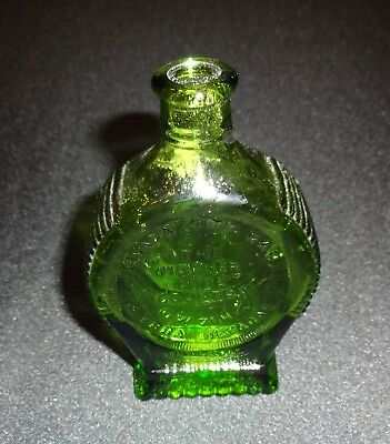 """Green Miniature Bottle Nevada City """"The Mother Lode"""" In Silver We Trust Wheaton"""