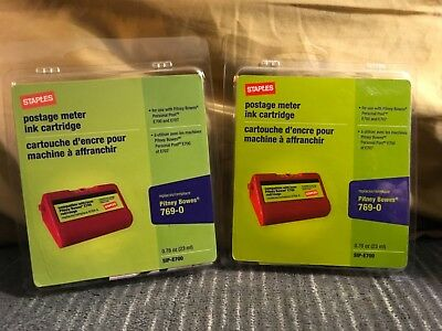 Staples Postage Meter Ink Cartridge #769-0 For Pitney Bowes New Free Shipping