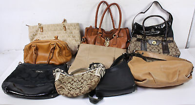 Lot of 10 Bags Wholesale  Coach Kate Spade Michael Kors Mixed Designer Brands