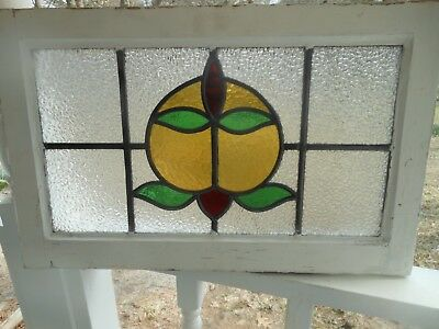 MA13-559 Lovely Older Transom Style Leaded Stained Glass Window From England