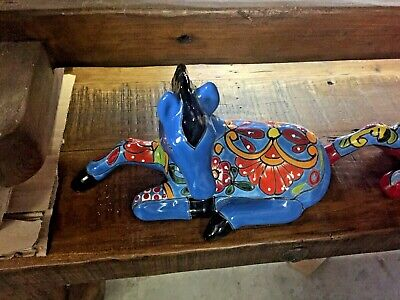 TALAVERA MEXICAN POTTERY -  ANIMALS - COLORFUL HORSES (Assorted Colors)