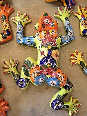 TALAVERA MEXICAN POTTERY - ANIMALS - LARGE FROGS - (Assorted Colors)