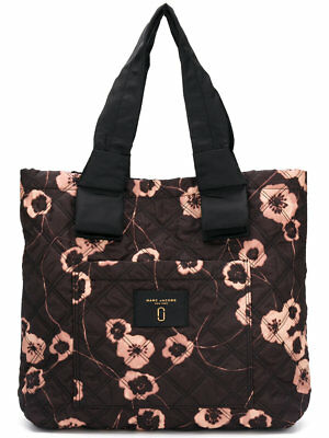 b3e05845331a NWT MARC JACOBS Quilted Black Multi Floral Print Tote Bag  250 ...