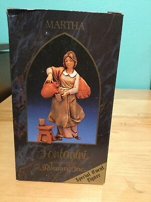 "Fontanini 5"" Martha 65121 Special Event figure- Great find! NIB with Story Card"