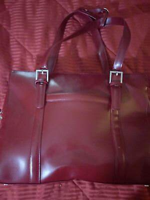 New Franklin Covey Burgundy Briefcase/laptop Bag - $139.99 Retail Free Shipping