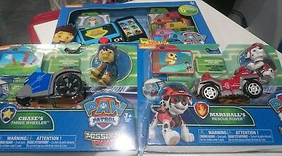 paw patrol mission pup pad with Chase's three wheeler & Marshall's rescue rover