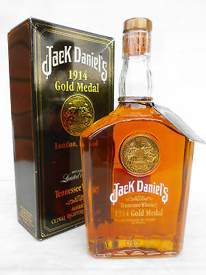 Jack Daniels 1914 Gold Medal Tennessee Whiskey 750ml 45% Box & unregisteredTag!