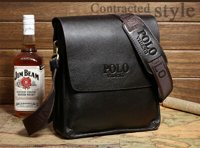 New Men Genuine Leather Business Handbag shoulder bags black brown bag