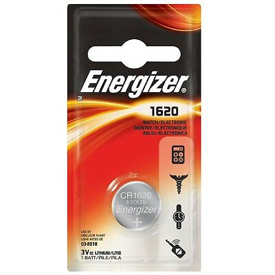 2x Button Cell Energizer CR1620 Battery Lithium 3V