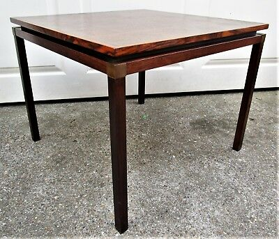 Danish Rosewood Copper Topped Lamp Side Table