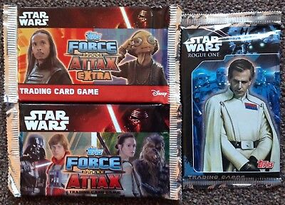 Star Wars topps Trading Cards x 3 Packs