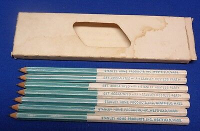 7 Vintage Stanley Home Products Wooden Pencils - New