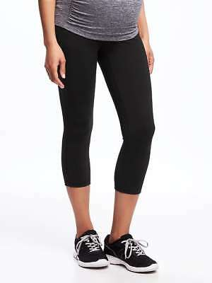Old Navy Maternity Full-Panel Compression Crop Legging in Black  ~ NWT ~ Size XL