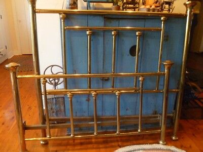 Antique Brass Bed. Vintage. Heavy, Polished. Beautiful. Includes rails, fittings