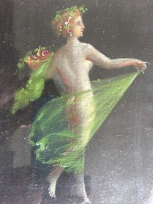 Huile sur toile - Oil on canvas : Femme dansant - dancing woman