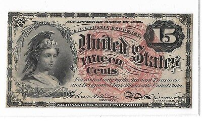 US, 15 Cent Fractional Currency, 4th Issue , Large Seal
