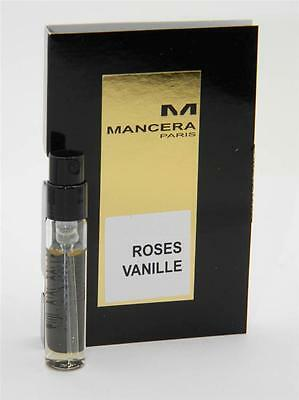 Mancera ROSES VANILLE EDP Vial Sample 2ml 0.07oz New With Card
