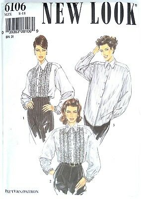 ef1e16ed767 NEW LOOK SEWING Pattern 6106 Misses' Blouse 8-18 FACTORY FOLDED UNCUT