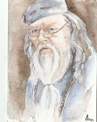 ACEO Original Art Painting Albus Dumbledore by Maksimova Anna
