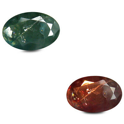 0.50 ct Oval (6 x 4 mm) Un-Heated Color Change Alexandrite Loose Gemstone