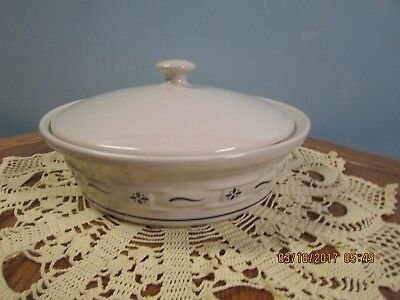 LONGABERGER POTTERY 2 Quart Covered Casserole Dish in Classic Blue