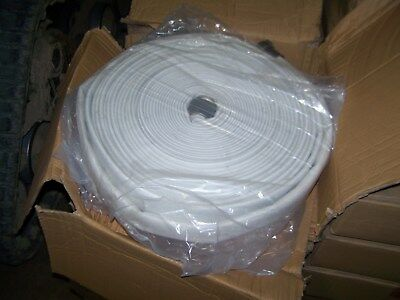 "1.5""x100' Single Jacket 125 Psi Mill Hose W/ Aluminum Coupler Fire Water Hydrant"