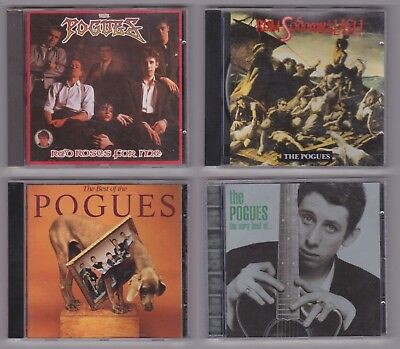 THE POGUES 4 CD JOB LOT very best of red roses for me , rum sodomy & the lash +1