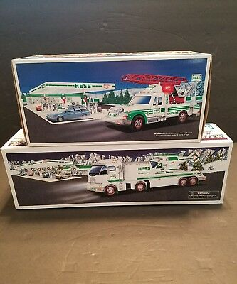 lot of 2 hess trucks 1994 and 2006