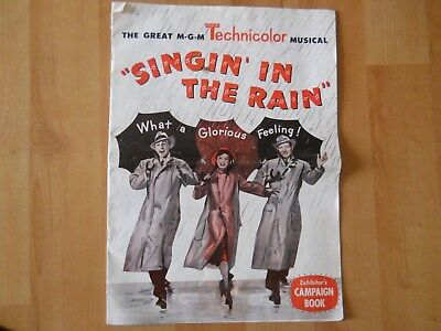 "Vintage Movie Poster "" Singin' In The Rain"" Exhibitors Campaign Book, Very Rare"