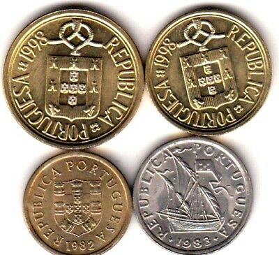 Uncirculated Coins from Portugal , Pre- Euro coins  (A439) ***FREE SHIP***