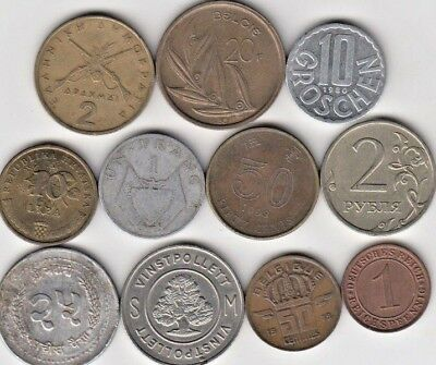 Lot 10 coins World, LOOK  (A434) ***FREE SHIP***