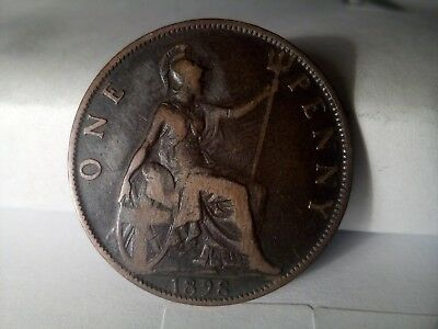 HIGH GRADE Great Britain one penny 1898 Queen Victoria    (A259)  Best Price