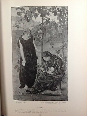 Ruth,   Antique 1898 Print, religion, arts