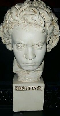 Bust Of Beethoven 10.5 Inches Tall Hand Crafted