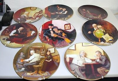 Norman Rockwell Complete Set Of 8 Rockwells Golden Moments With COAs
